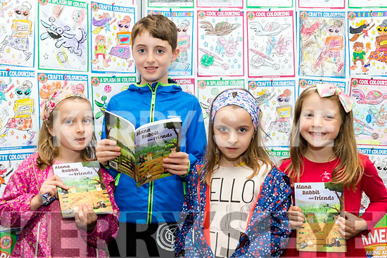 New Book<br /> --------------<br /> L-R Ashling, Alanah&amp;Killian O'Mahony with Olivia Crean are all excited after buying the new book from Joe Enright entitled Alanah Rabbit&amp;Friends at the Tralee library last Saturday afternoon.