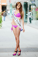 17/9/2010. Miss Ireland contestants. Miss Meath Ashling McEntee is pictured at St Stephens Green. the 35 Miss Ireland contestants officially unveiled in their swimwear and sashes for the 1st time at Stephen's Green Shopping Centre,  Dublin. Picture James Horan/Collins Photos
