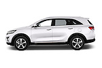 Car Driver side profile view of a 2015 KIA Sorento Fusion AWD 5 Door Suv Side View