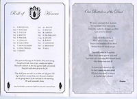 Pages from an Ulster Defence Association (UDA) service booklet which formed part of a Remembrance Sunday memorial service for fallen comrades.