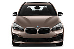 Car photography straight front view of a 2018 BMW 2 Series 225xe iperformance 5 Door Mini Van