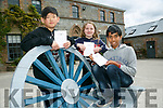 3 students from Educate Together have won cycle vouchers  for their Art Work from  Kerry County Council. Pictured Aditya Ses, Maia Commane and Brendan Wang Timothy
