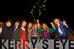 Diarmuid Murphy, Tamila Khussainova, Alex O'Sullivan, Adelina Nikolateva, Raminta Kaletkaite and Victoria Wolkanska, watching the New Year's Eve fire works display at Manor East, Tralee on Tuesday evening.