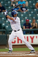 Round Rock Express outfielder Ryan Spilborghs #19 at bat during the Pacific Coast League baseball game against the Sacramento River Cats on May 22, 2012 at The Dell Diamond in Round Rock, Texas. The Express defeated the River Cats 11-5. (Andrew Woolley/Four Seam Images)