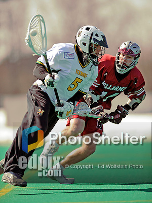 23 March 2008: University of Vermont Catamounts' Justin Lubas, a Senior from Freehold, NJ, in action against the Bellarmine University Knights at Moulton Winder Field, in Burlington, Vermont. The Catamounts defeated the visiting Knights 9-7 at the Vermont home opener...Mandatory Photo Credit: Ed Wolfstein Photo