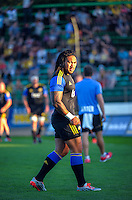 Ma'a Nonu warms up for the Super Rugby match between the Hurricanes and Blues at FMG Stadium, Palmerston North, New Zealand on Friday, 13 March 2015. Photo: Dave Lintott / lintottphoto.co.nz