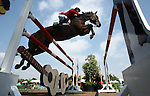 GUADALAJARA, MEXICO - OCTOBER 27:  Alberto Michan of Mexico competes during the Equestrian Show Jumping Competition on Day Thirteen of the XVI Pan American Games on October 27, 2011 in Guadalajara, Mexico.  (Photo by Donald Miralle for Mexsport) *** Local Caption ***