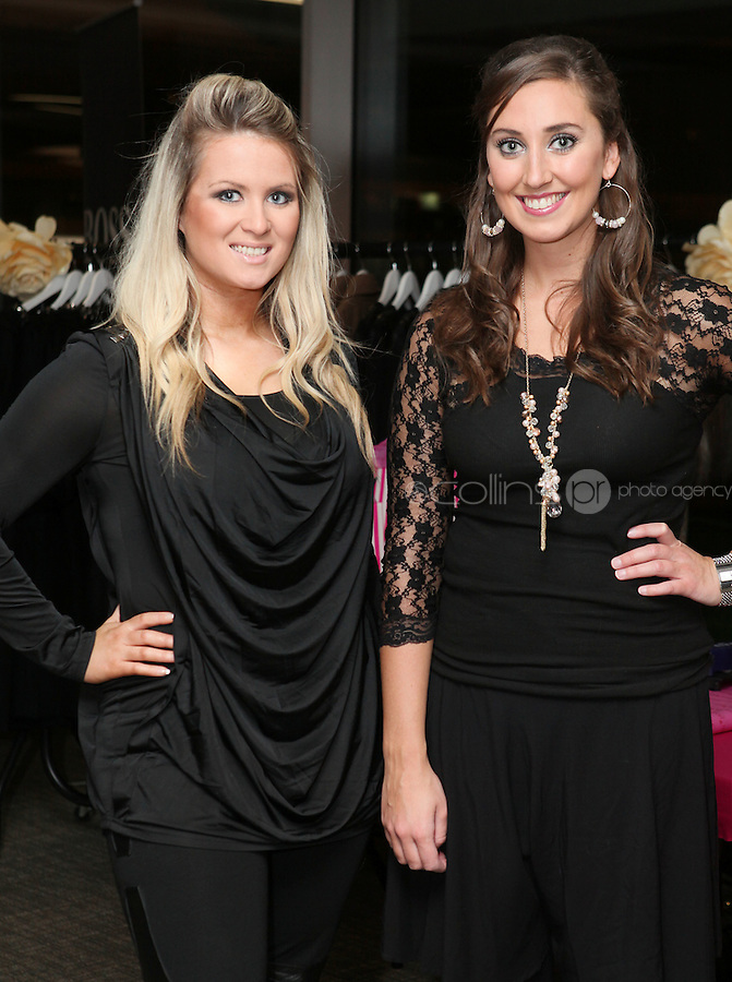 NO FEE 14/10/2010.  Bóthar's Rugby Rocks Fashion.  Amy Kelly and Deirdre Foly are pictured at Bóthar's Rugby Rocks Fashion fundraising event at the Aviva Stadium in Dublin on Thursday night were {insert names here}. All proceeds from the event go towards Bóthar's projects in Pakistan. To find out more about Bóthar's work in Pakistan or in any of the 35 project countries Bóthar works in, lo-call 1850 82 99 99 or visit www.bothar.org. Picture James Horan/Colllins Photos