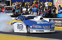 Feb. 22, 2013; Chandler, AZ, USA; NHRA pro stock driver Steve Kent during qualifying for the Arizona Nationals at Firebird International Raceway. Mandatory Credit: Mark J. Rebilas-