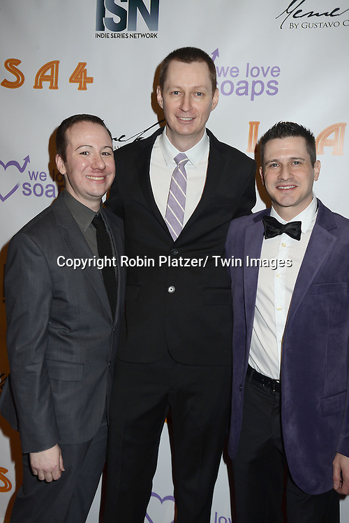 Kevin Mulcahy, Jr, Roger Newcomb and Damon Jacobs attends the  4th Annual Indie Soap Awards  on Tuesday, February 19th at The New World Stages in New York City. .