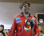 Dr. Heriberto Dixon, seen at the Naming Ceremony Event, at the A.J. Williams-Myers African Roots Community Center, at 43 Gill Street, in Kingston, NY, on Saturday, February 18, 2017. Photo by Jim Peppler; Copyright Jim Peppler 2017