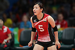 Arisa Sato (JPN),<br /> AUGUST 6, 2016 - Volleyball : <br /> Women's Preliminary Pool A<br /> between Japan 1-3 South Korea<br /> at Maracanazinho <br /> during the Rio 2016 Olympic Games in Rio de Janeiro, Brazil. <br /> (Photo by Koji Aoki/AFLO SPORT)