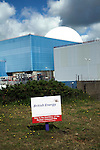 Sizewell nuclear power station, Suffolk, England. The rectangular concrete Sizewell A has now been decommissioned. The white dome of Sizewell B is British Energy's only PWR ( pressurised water reactor). With a possible new generation of nuclear reactors back on the political agenda the possibility of Sizewell C is again being discussed.