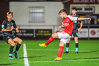 Fleetwood Town's midfielder Barry Baggley (30) shoots during the The Leasing.com Trophy match between Fleetwood Town and Liverpool U21 at Highbury Stadium, Fleetwood, England on 25 September 2019. Photo by Stephen Buckley / PRiME Media Images.