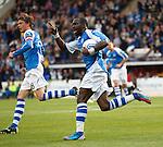 Gregory Tade celebrates his goal for St Johnstone