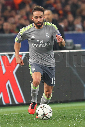 17.02.2016. Stadio Olimpico, Rome, Italy. UEFA Champions League, Round of 16 - first leg AS Roma versus Real Madrid. CARVAJAL DANIEL RAMOS