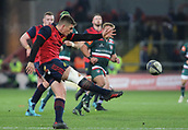 9th December 2017, Thomond Park, Limerick, Ireland; European Rugby Champions Cup, Munster versus Leicester Tigers; Ian Keatley of Munster, makes a clearance kick