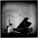 A piano recital at the Palaffy Palace, Prague, Czech Republic.