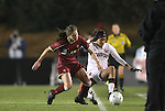 03 December 2010: Boston College's Alaina Beyar (17) pushes Stanford's Christen Press (23) out of bounds. The Stanford University Cardinal defeated the Boston College Eagles 2-0 at WakeMed Stadium in Cary, North Carolina in an NCAA Women's College Cup semifinal game.