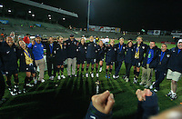United States celebrating the championship, during game of the Womens Preolympic soccer tournament held at Ciudad Juarez. Mexico