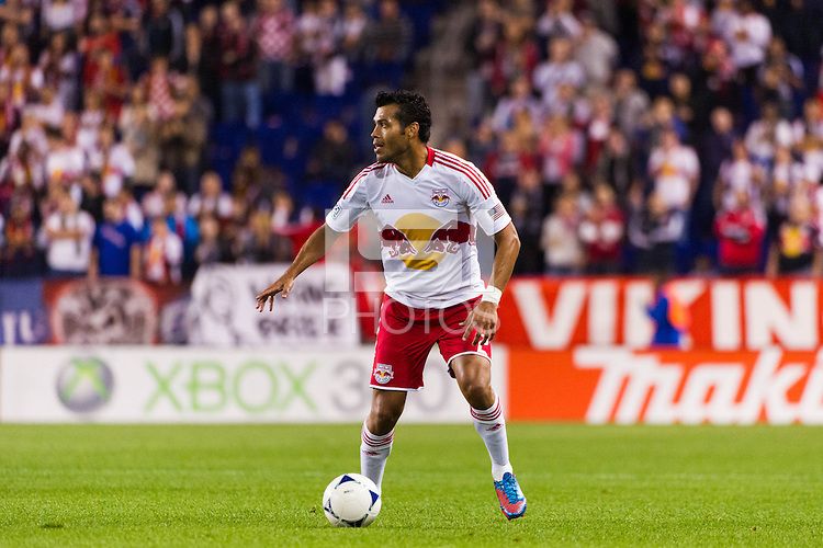 Wilman Conde (2) of the New York Red Bulls. The New York Red Bulls defeated Toronto FC 4-1 during a Major League Soccer (MLS) match at Red Bull Arena in Harrison, NJ, on September 29, 2012.