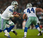 09.11.2014.  London, England.  NFL International Series. Jacksonville Jaguars versus Dallas Cowboys. Dallas Cowboys' Quarterback Tony Romo (#9) in action