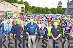 Former Ireland and Lions legend Moss Keane Currow starts the 2009 Ring of Kerry cycle in Killarney Saturday morning with Cathal Walsh, Bishop Bill Murphy and Killarney Mayor Michael Gleeson