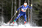 Greta Laurent  competes during the FIS Cross Country Ski World Cup Sprint qualification race in Dobbiaco, Toblach, on December 19, 2015. Credit: Pierre Teyssot