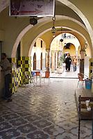 Tripoli, Libya - Medina Scene, Libyan Courtyard, Arches