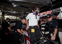 May 17, 2014; Commerce, GA, USA; NHRA top fuel dragster Steve Torrence during qualifying for the Southern Nationals at Atlanta Dragway. Mandatory Credit: Mark J. Rebilas-USA TODAY Sports