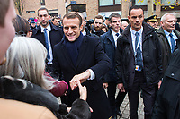 French President Emmanuel Macron & wife Brigitte Macron on a State Visit to Belgium