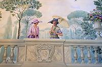 """Europe/Italie/Emilie-Romagne/Bologne : Hôtel """"Baglioni"""" - Peinture murale du patio peint par Luca Guenzi"""