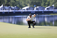 Henrik Stenson (SWE) on the 14th green during Thursday's Round 1 of the 2017 PGA Championship held at Quail Hollow Golf Club, Charlotte, North Carolina, USA. 10th August 2017.<br /> Picture: Eoin Clarke | Golffile<br /> <br /> <br /> All photos usage must carry mandatory copyright credit (&copy; Golffile | Eoin Clarke)