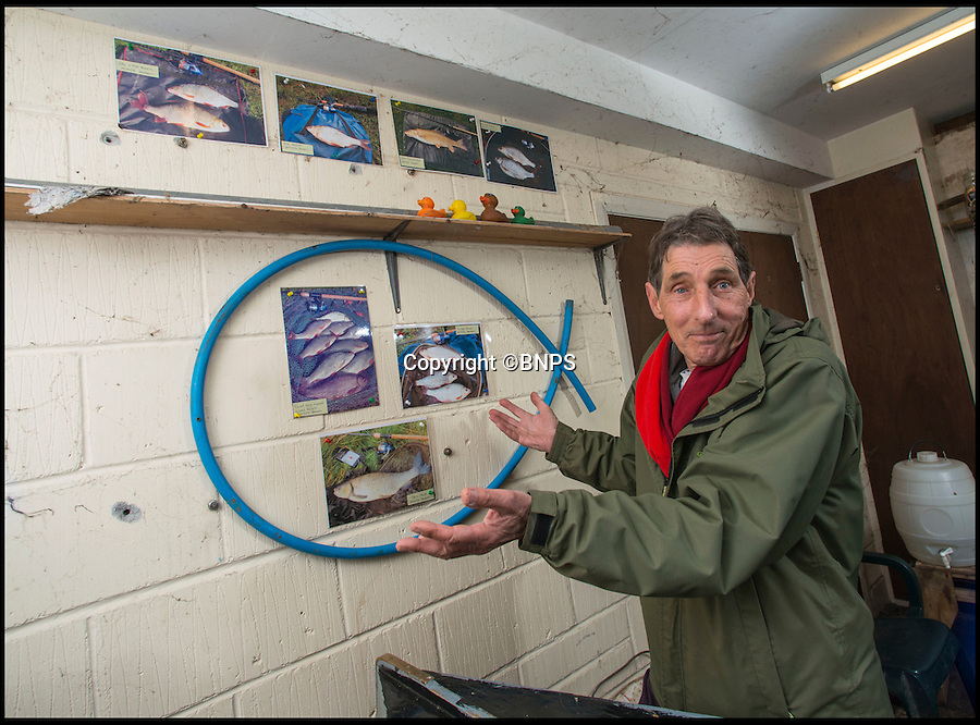 "BNPS.co.uk (01202 558833)<br /> Pic: TomWren/BNPS<br /> <br /> Local fisherman Marek Wieczerzak(68) isn't quite sure whether to believe if the photos are the real deal.<br /> <br /> A mystery fishing ""genius"" has sparked intrigue after pinning photos of his monster catches inside an angling club's riverbank lodge - in an enigma being dubbed 'Good Will Fishing'.<br /> <br /> The anonymous fisherman has systematically worked his way through a tough stretch of the River Avon and pulled in 19 once-in-a-lifetime catches in the last 12 months.<br /> <br /> And much like 1997 film Good Will Hunting, in which Matt Damon's genius character anonymously solves near-impossible mathematical equations while working as a janitor at a prestigious university, the angling Einstein showcases his brilliance in secret."