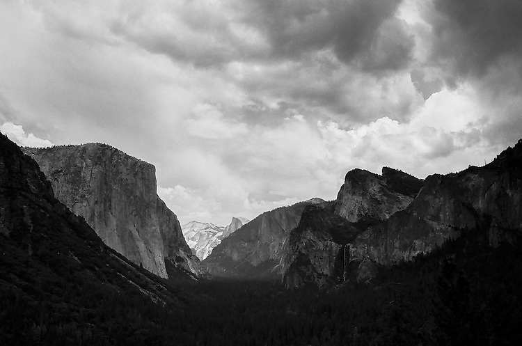 Spring Storm, Tunnel View, Yosemite NP    35mm image on Ilford Delta 100 film