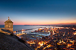 View of Alicante city from Santa Barbara Castle. Alicante province, Valencian Community, Spain, Europe.