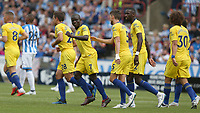 Chelsea's N'Golo Kante celebrates scoring the opening goal <br /> <br /> Photographer Stephen White/CameraSport<br /> <br /> The Premier League - Huddersfield Town v Chelsea - Saturday August 11th 2018 - The John Smith&rsquo;s Stadium<br />  - Huddersfield<br /> <br /> World Copyright &copy; 2018 CameraSport. All rights reserved. 43 Linden Ave. Countesthorpe. Leicester. England. LE8 5PG - Tel: +44 (0) 116 277 4147 - admin@camerasport.com - www.camerasport.com