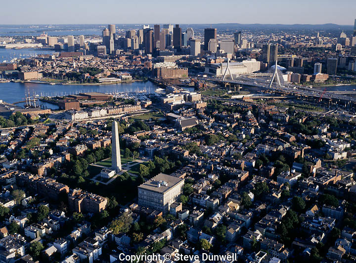 Bunker Hill aerial view,charlestown, MA