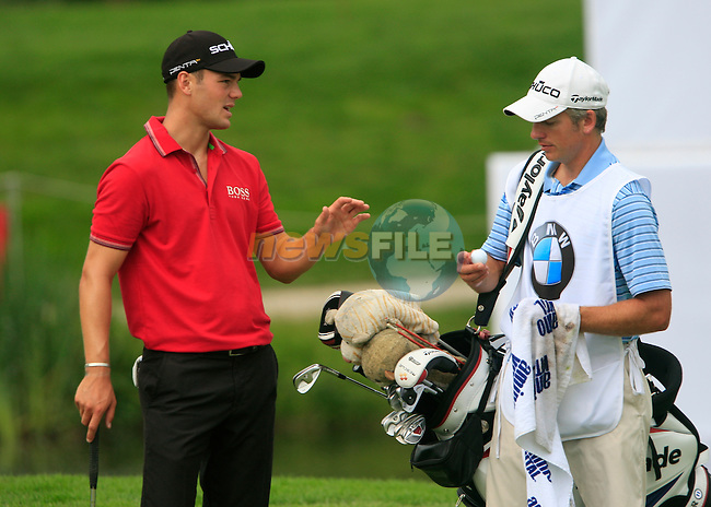 Martin Kaymer (GER) and new caddy Christian Donald in action during the Pro-Am Day of the BMW International Open at Golf Club Munchen Eichenried, Germany, 22nd June 2011 (Photo Eoin Clarke/www.golffile.ie)