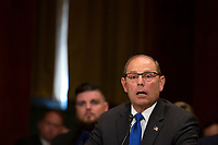 Kenneth Charles Canterbury, Jr. testifies before the U.S. Committee on the Judiciary during his confirmation hearing to be Director of the Bureau Of Alcohol, Tobacco, Firearms, And Explosives on Capitol Hill in Washington D.C., U.S. on July 31, 2019.<br /> <br /> Credit: Stefani Reynolds / CNP/AdMedia