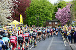 The peleton in action during Stage 2 of the Tour de Yorkshire 2018 running 149km from Barnsley to Ilkley, England. 4th May 2018.<br /> Picture: ASO/Alex Broadway | Cyclefile<br /> <br /> <br /> All photos usage must carry mandatory copyright credit (&copy; Cyclefile | ASO/Alex Broadway)