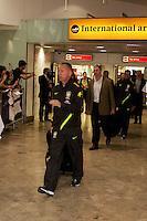 LONDRES, INGLATERRA, 17 JULHO 2012 - DESEMBARQUE SELECAO BRASILEIRA OLIMPICA EM LONDRES - Mano Meneses da selecao masculina olimpica de futebol desembarca no Aeroporto de Heathrow em Londres na Inglaterra, nesta terca-feira, 17. (FOTO: GUILHERME ALMEIDA / BRAZIL PHOTO PRESS).