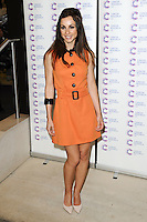 Lindsay Armaou arriving at James' Jog On To Cancer Event, Kensington Roof Gardens, London. 09/04/2014 Picture by: Alexandra Glen / Featureflash