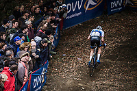 European Champion Mathieu Van der Poel (NED/Corendon Circus) had a very un-typical offday and will finish more than 4 minutes down the race winner... <br /> <br /> Koppenbergcross Belgium 2018
