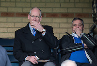 Former Bristol Rovers Financial Director Toni Watola (left) with Former Bristol Rovers Chairman Nick Higgs during the Sky Bet League 2 match between Wycombe Wanderers and Bristol Rovers at Adams Park, High Wycombe, England on 27 February 2016. Photo by Andy Rowland.