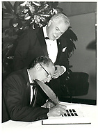 Soiree-  du Club des Ambassadeurs<br /> (du Palais des Congres de Montreal), 18 septembre 1985<br /> <br /> Photo : Agence Quebec Presse