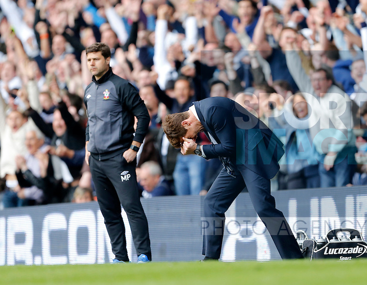 Tottenham's Andre Villas-Boas celebrates his sides opening goal..- Barclays Premier League - Tottenham vs Southampton - White Hart Lane - London - 4th May 2013 - Pic David Klein/Sportimage