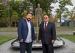 "Presentation of Gift entitled ""Consciousness"" from Mongolia to the United Nations<br /> <br /> Former President Tsakhiagiin Elbegdorj, and the Artist of the art sculpture"