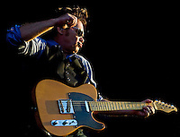 John Mellencamp performs at the GCS Ballpark in Sauget, Il., on July 2, 2009. He is on tour with Willie Nelson and Bob Dylan..