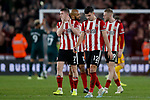 John Egan of Sheffield United looks dejected after the Premier League match at Bramall Lane, Sheffield. Picture date: 5th December 2019. Picture credit should read: James Wilson/Sportimage